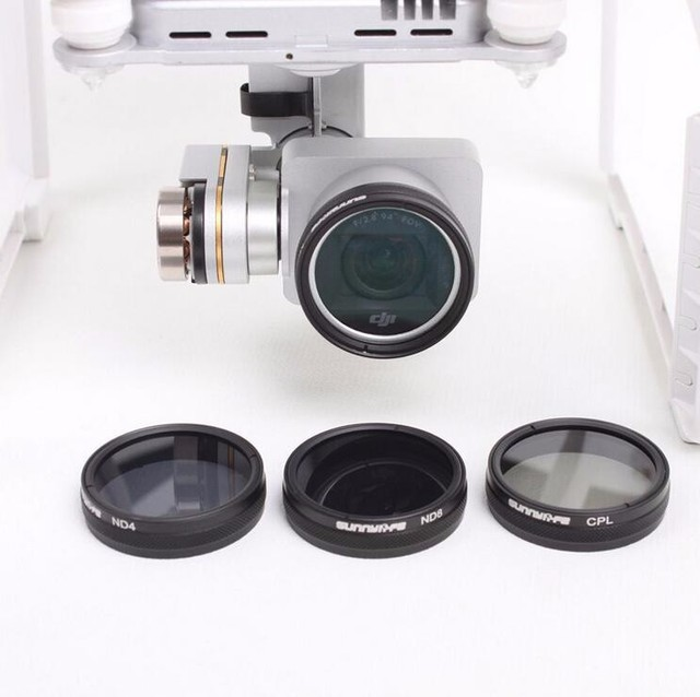 For DJI Phantom 3 / 4 Accessories ND4 / ND8 / MCUV / CPL Lens Filter for Phantom 4 Phantom 3 Professional \ Advanced \ Standard