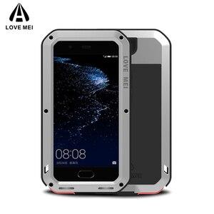 Image 1 - Love Mei Métal étui pour Huawei P10 P10 Plus Antichoc Couverture de Téléphone Pour Huawei P10 Plus Robuste Corps Entier Anti Chute Étui Darmure