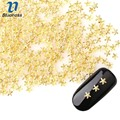 1000Pcs Japanese Style Nails Accessories 4*4mm Gold Starfish Design 3D Nail Art Decoration DIY Manicure Supplies PJ448