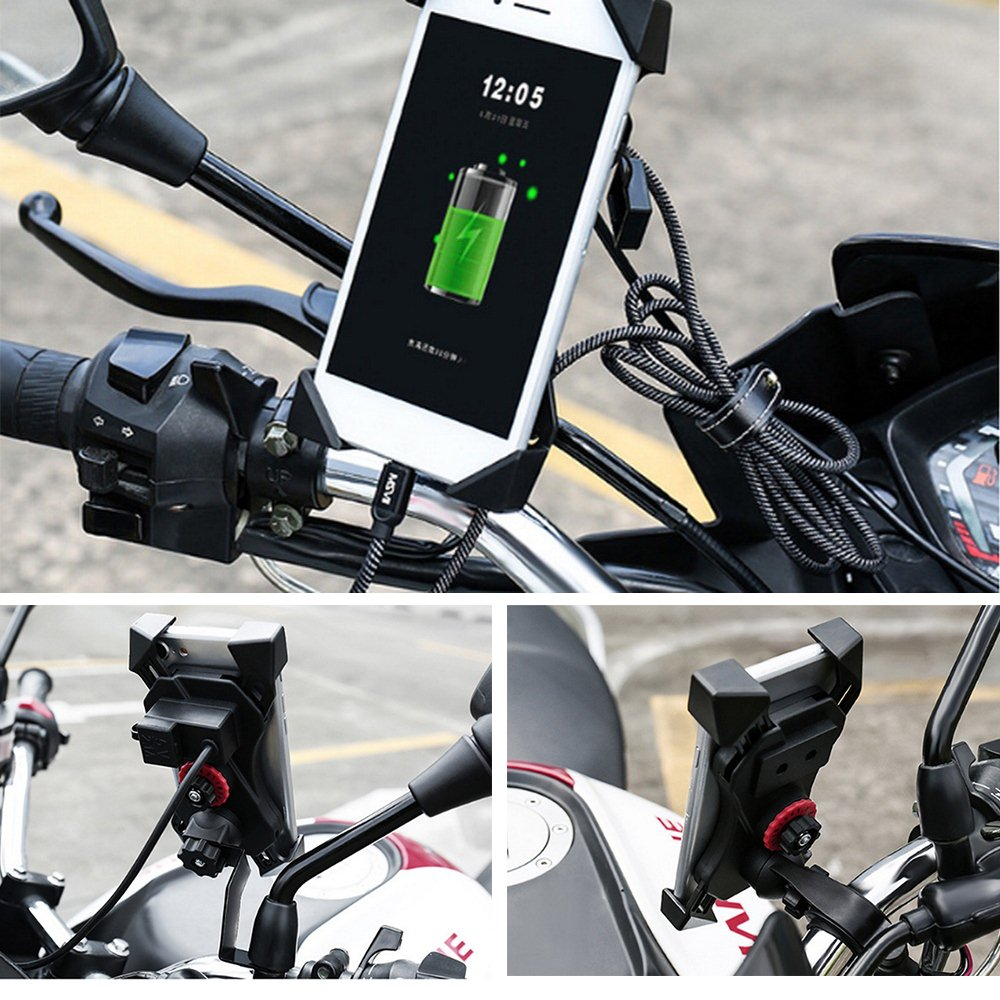 4 6 5 Inch Motorcycle Phone Holder 360° Rotation Eagle Claw Design Cellphone Bracket Four Corners Fixed Cycling Accessories in Universal Car Bracket from Automobiles Motorcycles