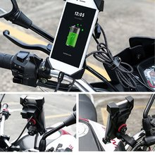 4/6.5 Inch Motorcycle Phone Holder 360° Rotation Eagle Claw Design Cellphone Bracket Four Corners Fixed Cycling Accessories