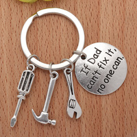 1Pc Fashion Mini Hammer Keyring Hand Tools Keychain Daddy Gift for Dad Fathers Day Hand Tools Bag Pendant Funny Metal Key Ring Machine Tools & Accessories