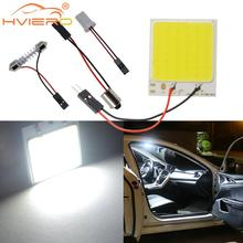 1pcs C5W cob 48 SMD chip White Reading Lamp led T10 Bulb led Car parking Auto Interior Panel Light Festoon car styling car led dc12v big promotion t10 24 smd cob led panel super white car auto interior reading map lamp bulb light car light source