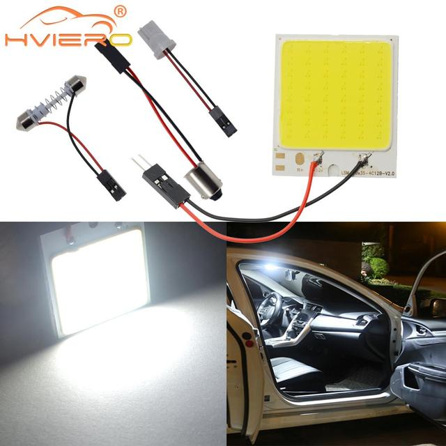 C5W Cob 24 36 48SMD chip White Reading Lamp led T10 Car Led parking Bulb Auto Interior Panel Light Festoon license plate lights