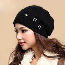 Winter Cap Female Wool Knitted Hat High Quality Thicken Warm Fashion Women Hats Caps Beanies Gorro Gorros
