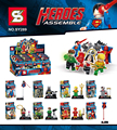 SY289  Super Heroes Avengers Ultron   Superman Batman Flash Torch Building Blocks Sets Model Bricks Toys