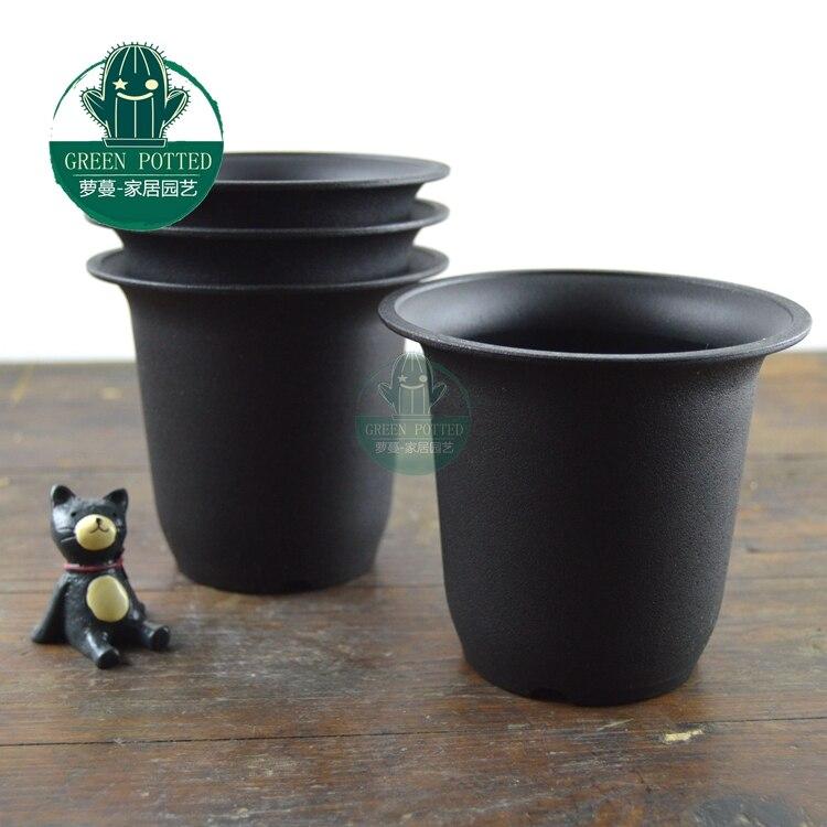 Vientiane matte pot plastic flower pots succulents mini tank 20/