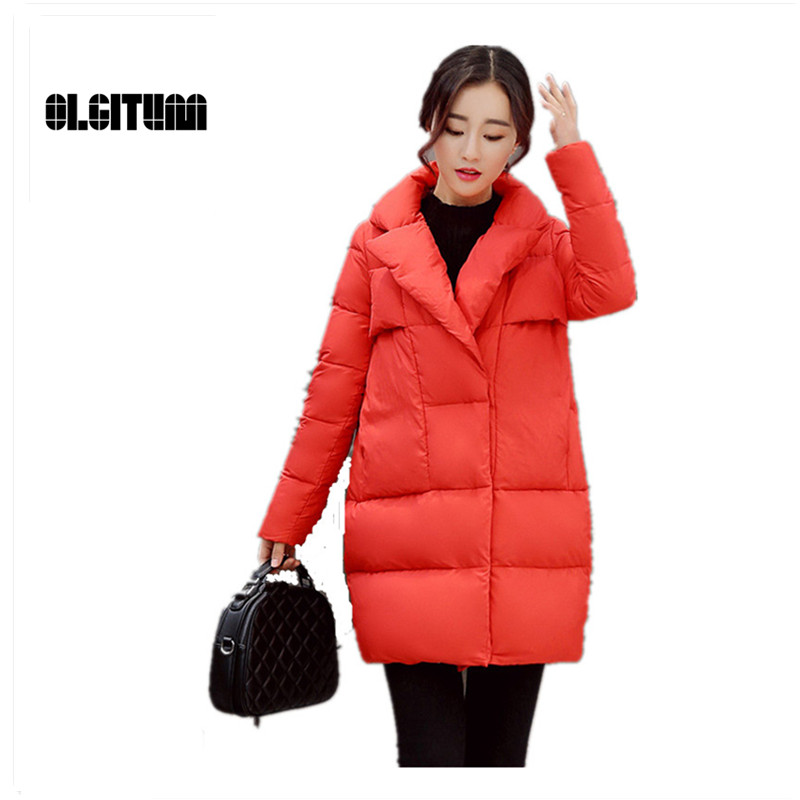 OLGITUM New women s warm thickening down jacket cotton padded jacket winter long paragraph female Cotton