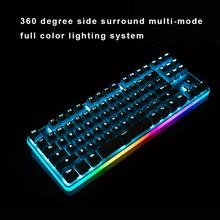 цена на Ganss Backlight Mechanical Gaming Keyboard 87 PBT Keys Brown Cherry MX Swiches Wired USB Game Keyboard