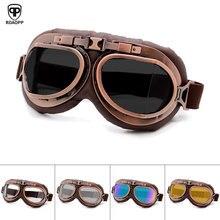 Roaopp Ретро мотоциклетные очки винтажные мото классические очки для Harley Pilot стимпанк ATV велосипед шлем из меди