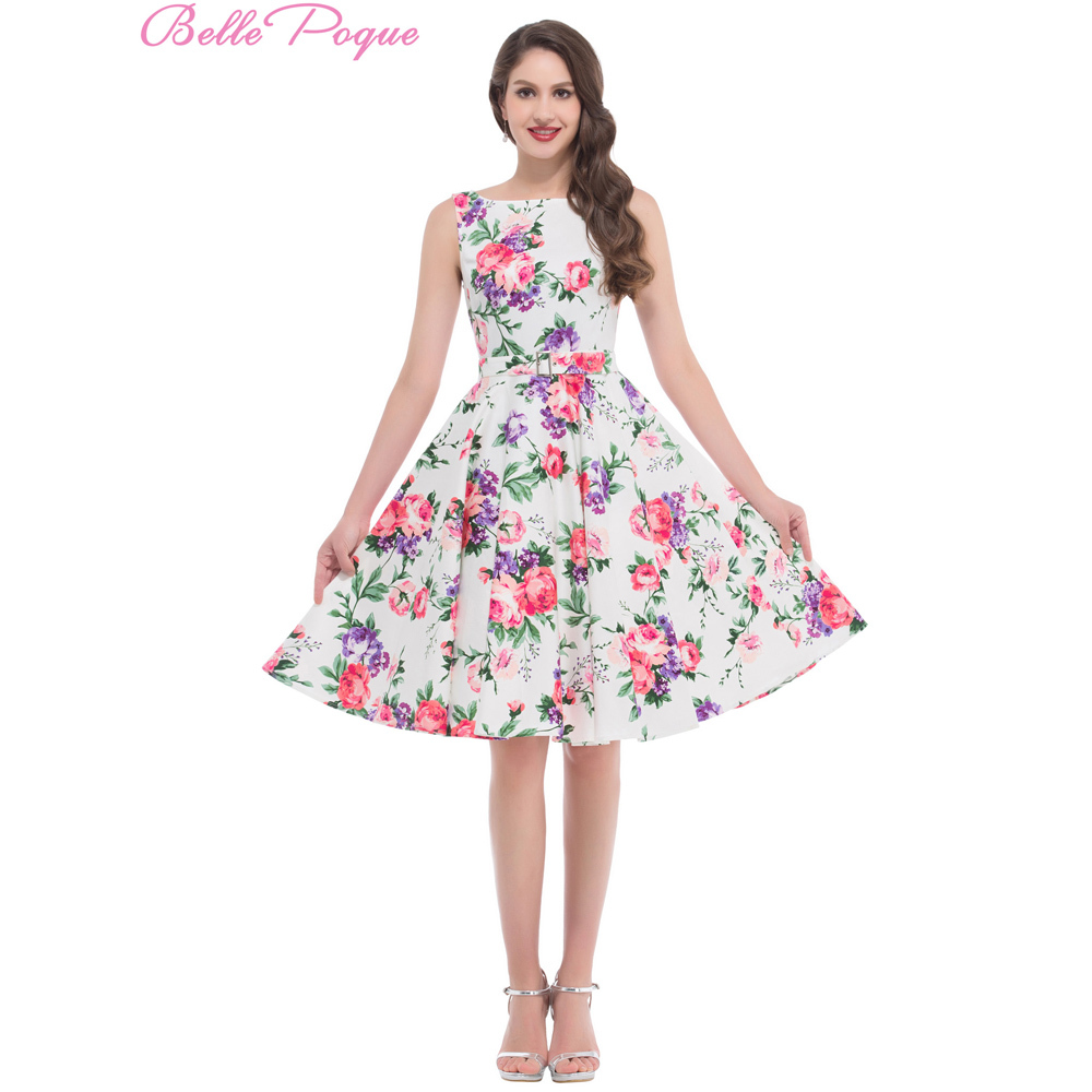 Free Shipping Housewife Picnic Dress Flower Pattern Floral ...