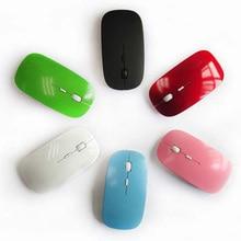 Portable Ultra Thin USB Optical Wireless Mouse 2.4G Receiver Super Slim Mouse Cordless Computer PC Laptop Desktop Mouses