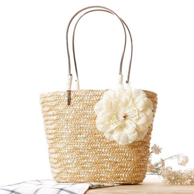 Ремешок инженю конопли цветок мешок соломы пляж портативный безграмотность знатных многоцветный мешок