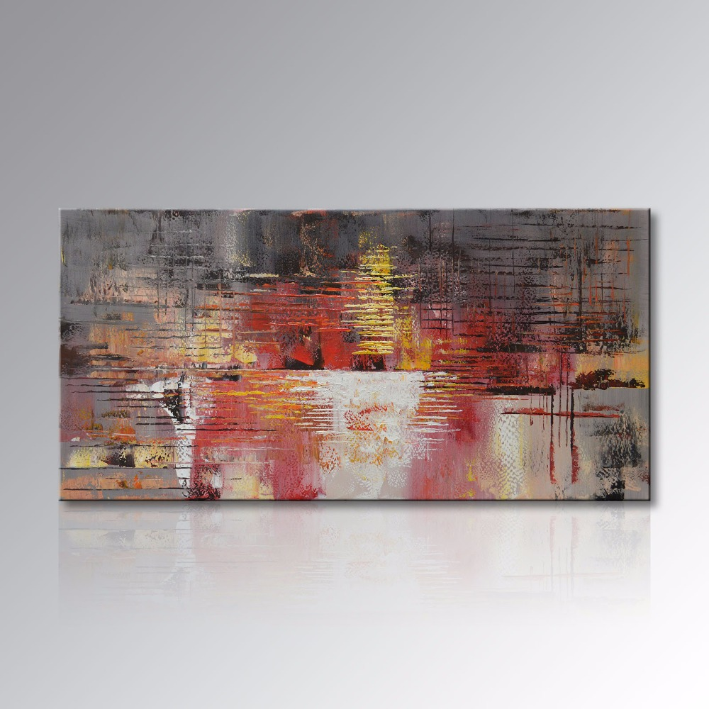 Contemporary artwork for the home - Framed Hand Painted Abstract Canvas Wall Art Modern Oil Painting On Cnavas Contemporary Artwork Home Decoration For Living Room