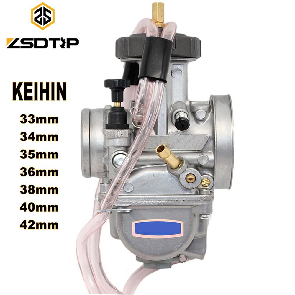 ZSDTRP Motorcycle KEIHIN PWK Carburetor 33 34 35 36 38 40 42mm Racing Parts Scooters Dirt Bike ATV with Power Jet Used 250cc free shipping zsdtrp pd30j gy6 250 cc scooter carburetor parts vacuum model universal fit on other 250cc scooters