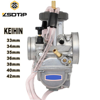 ZSDTRP Motorcycle KEIHIN PWK Carburetor 33 34 35 36 38 40 42mm Racing Parts Scooters Dirt Bike ATV with Power Jet Used 250cc