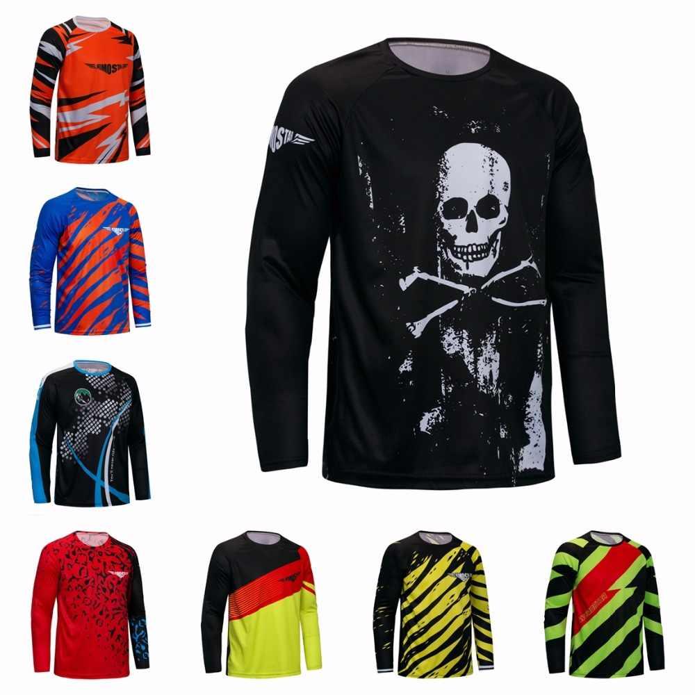 2018 Cycling Jersey Men s Mountain Bike Motocross Jersey long sleeve BMX DH  MTB T Shirt Downhill 04fd2fdfa