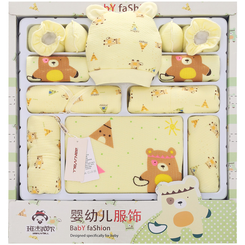 100 Quality Cotton Brand Newborn Baby Clothes 15 Pieces Gift Set Baby Girls Boys Presents Infant