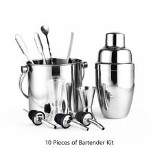 Greenhill 10 Stücke Barware Set/shaker set einschließlich shaker (550 ML)/eimer/Tong/Jigger/Löffel/Stroh