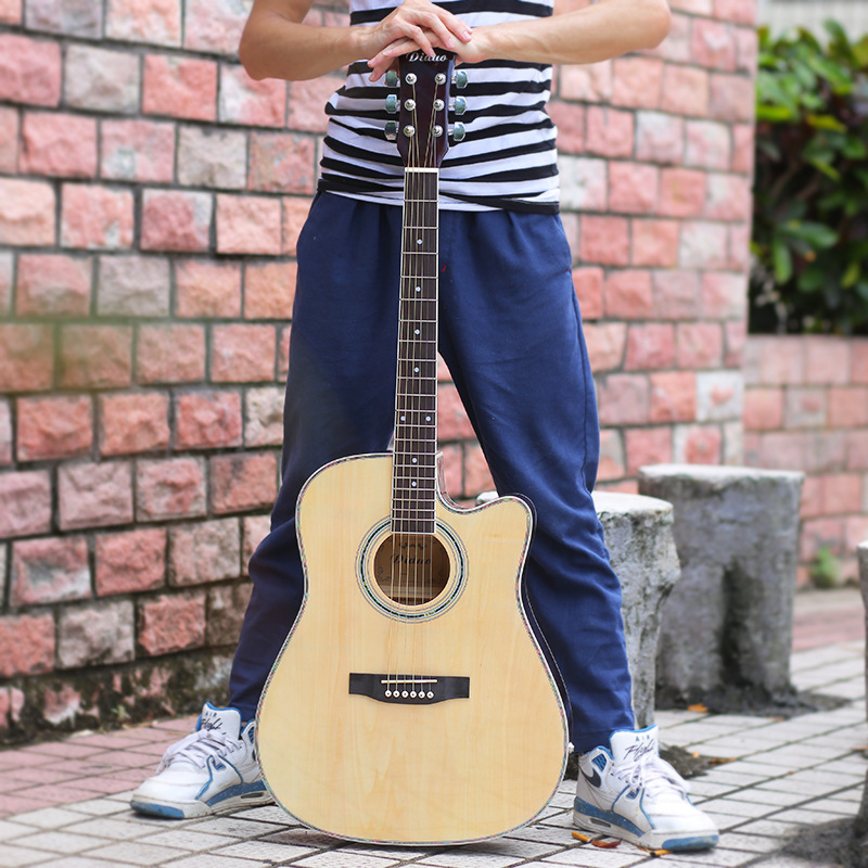 41 Inch Folk Log Colored Guitar Acoustic Guitar 6 Strings For Beginners Light Guitar savarez 510 cantiga series alliance cantiga normal high tension classical guitar strings full set 510arj