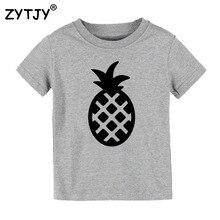Детская футболка с принтом ананаса; футболка для мальчиков и девочек; детская одежда для малышей; Забавные футболки; Прямая поставка; Y-39