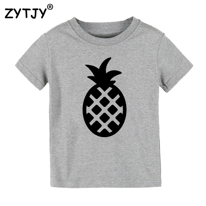 Pineapple print kids tshirt boy girl t shirt for children for Drop ship t shirt printing