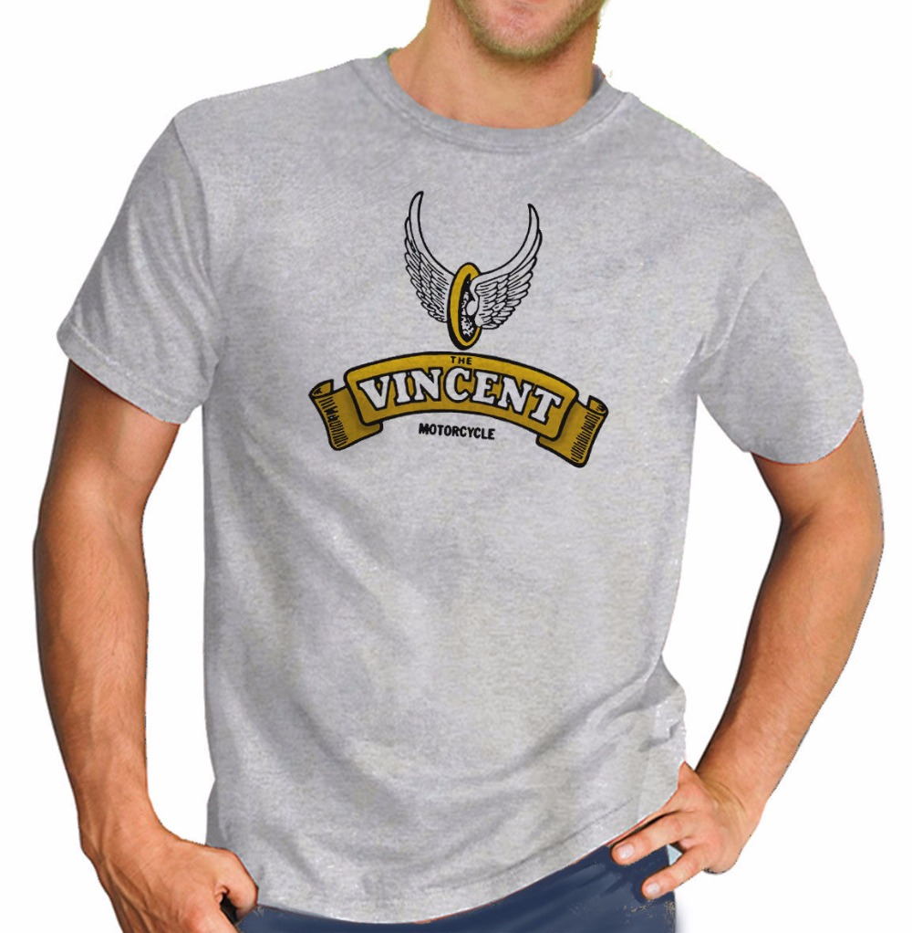 2018 Hot Sale New Mens T Shirt mens tee shirtsThe Vincent Retro Print Biker Motorcycle Vintage Motorbike tee shirts