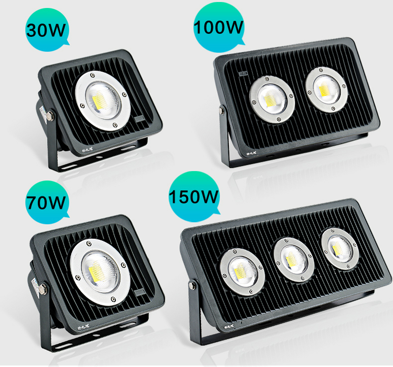 2pcs/lot 30W 50W 100W 150W Refletor Foco LED Exterior Projector 110V 220V Outdoor Security Landscape Wall Spotlight Floodlight 1pcs lot sh b17 50w 220v to 110v 110v to 220v