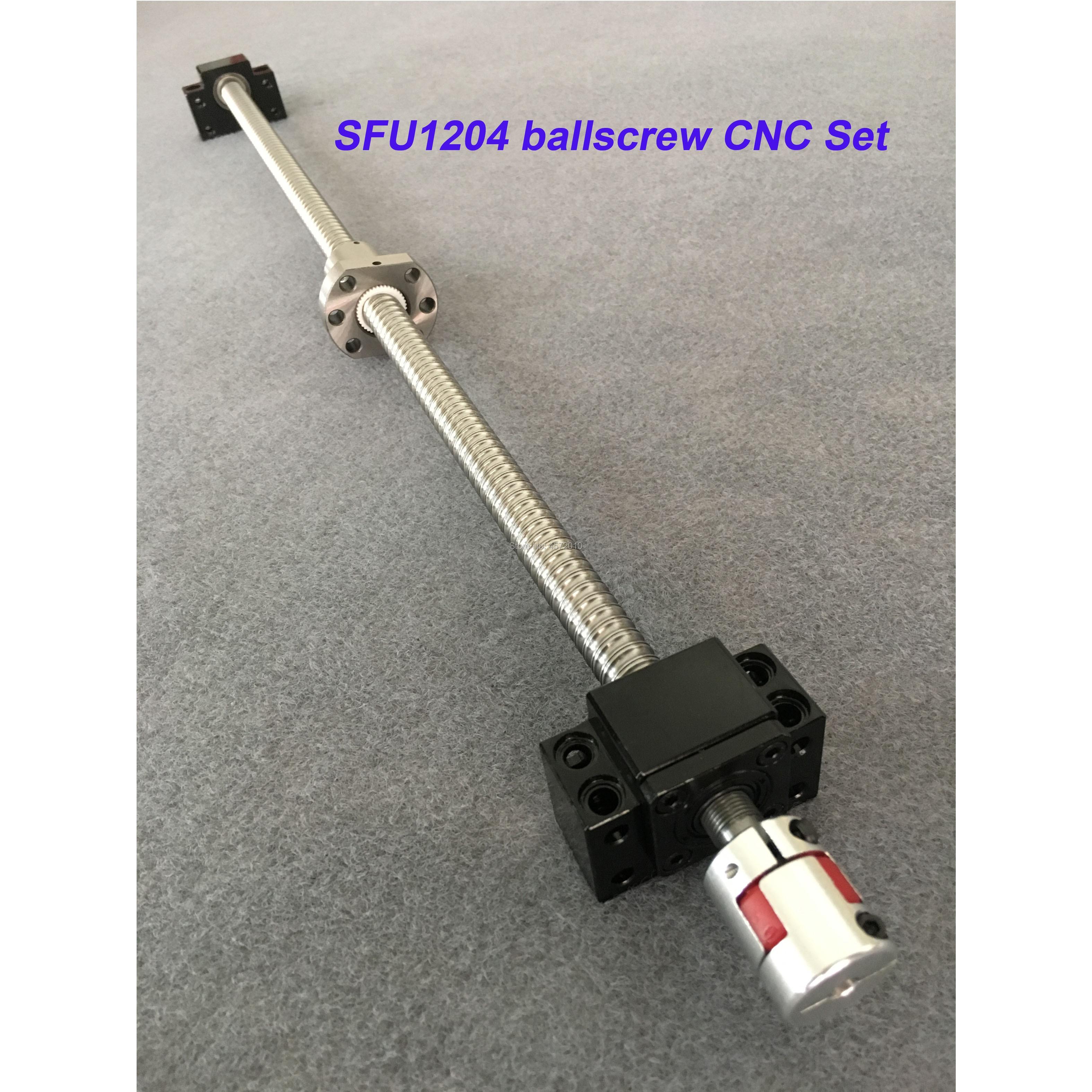 SFU1204 Ballscrew Set : 12MM Ball screw SFU1204 650 700 800 900 1000 mm end Machined +Ball Nut + BK10 BF10 Support for cnc partsSFU1204 Ballscrew Set : 12MM Ball screw SFU1204 650 700 800 900 1000 mm end Machined +Ball Nut + BK10 BF10 Support for cnc parts