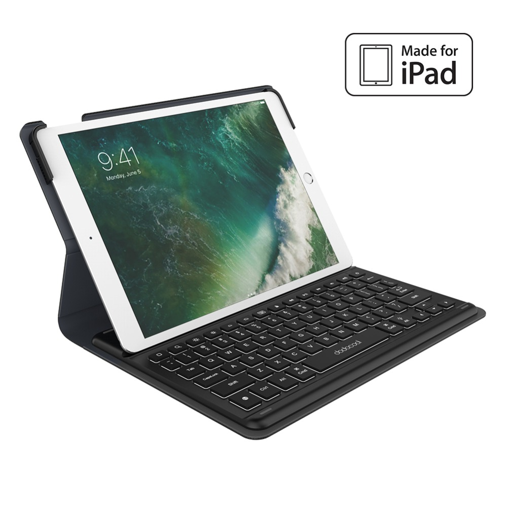 dodocool Mini Smart Keyboard for iPad Pro 10.5 inch Keyboard with Smart Connector Slim Shell Protective Cover Folio Case Stand 2