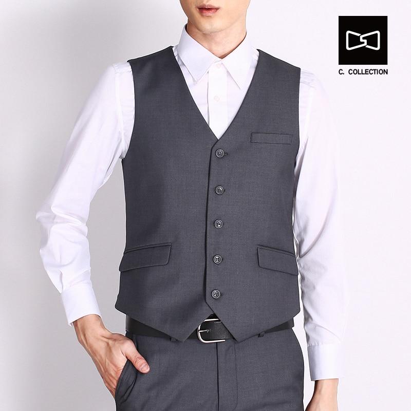 2017 Чоловіки жилет костюм жилет - Чоловічий одяг - фото 1