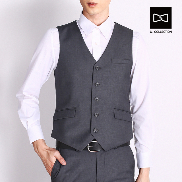 2017 Men Waistcoat Suit Vest Male,Slim fit Dress Vest for Men,Formal Sleeveless Blazers Business Jacket Colete Masculino
