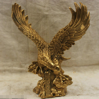 Chinese Folk Culture Handmade Old Bronze Brass Statue Lucky The Eagle Sculpture R0713 Discount 35%