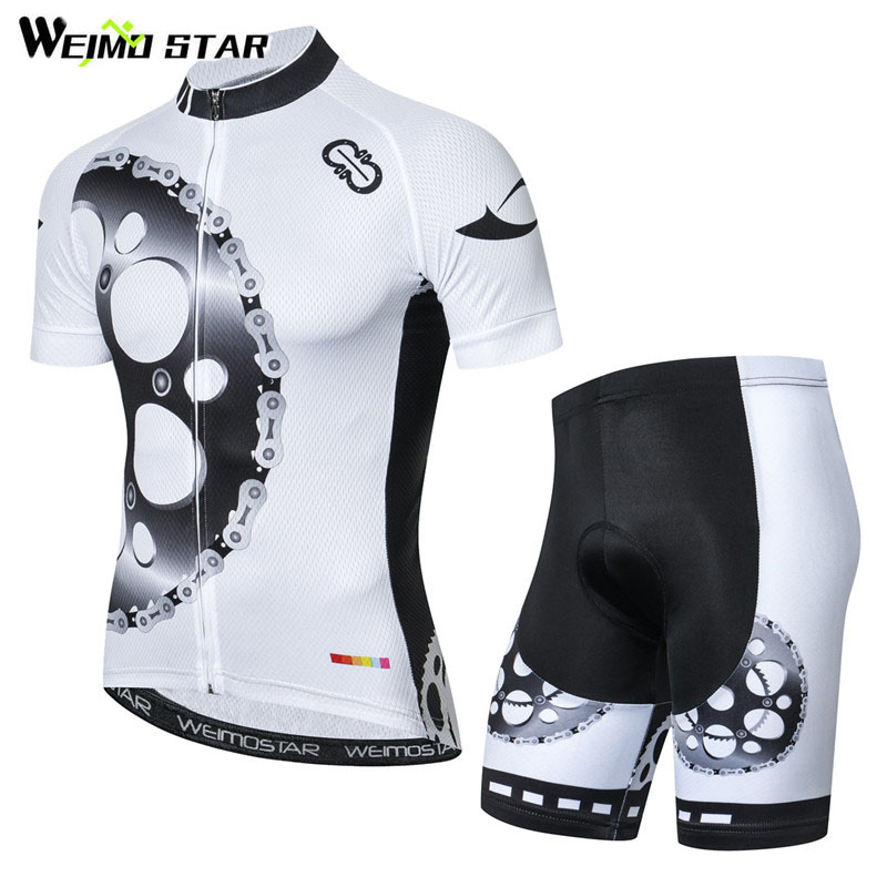 Weimostar 2018 Summer Short Sleeve Cycling Jersey Set Breathable mtb Bicycle Clothing Pro Team Bike Jersey Maillot Ropa Ciclismo