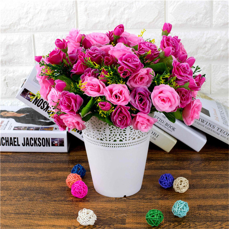 Emulational Valentine Rose Artificial Flowers Korean Decorated Silk ...