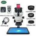 Efix 13MP HDMI VGA HD 3,5-90X Trinocular estéreo microscopio Zoom continuo cámara de vídeo teléfono móvil PCB Board soldar reparación