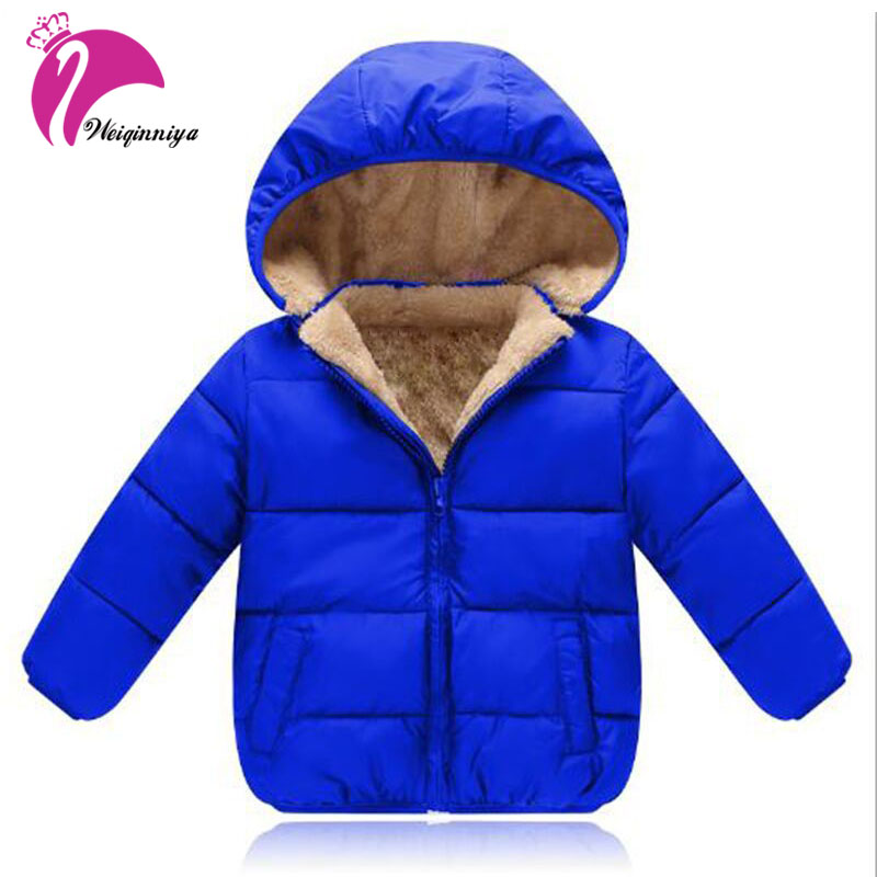 Winter 2017 Baby Boys Coat New Brand Fashion Plus Thick Velvet Cashmere Warm Kids Clothes Casual Unisex Hooded Jacket Outwears