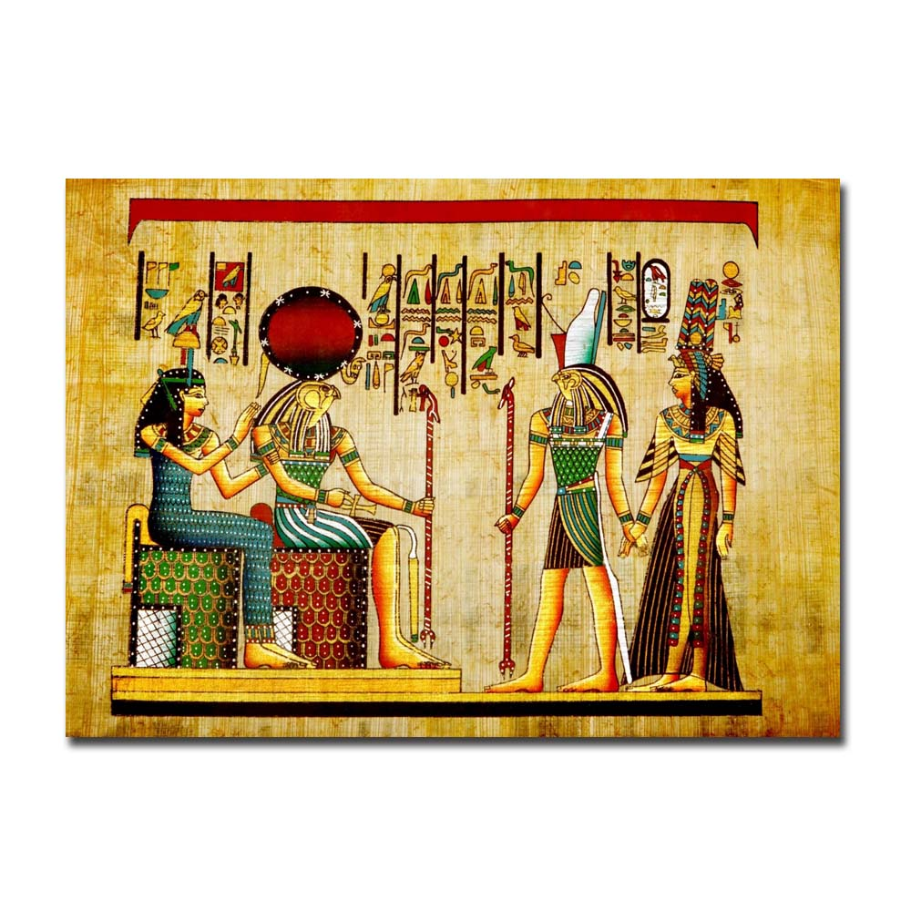 Egypt Wall Art Canvas Painting Parchment Paper Style Old Antique ...