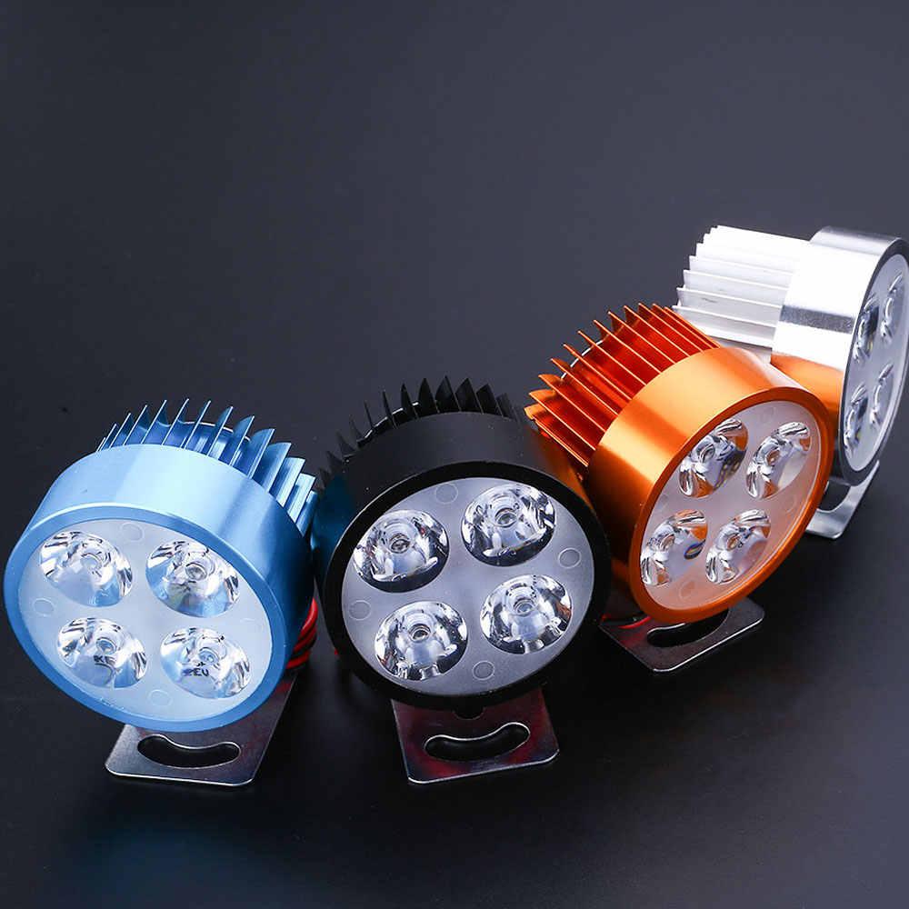 Vehemo-phare universel Super lumineux pour moto, scooter, feux avant, DC 12V, Spot de conduite phare LED