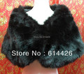 Black Faux Fur Pearl Shrug Cape Stole Wrap Shawl Wedding Bridal Special Occasion