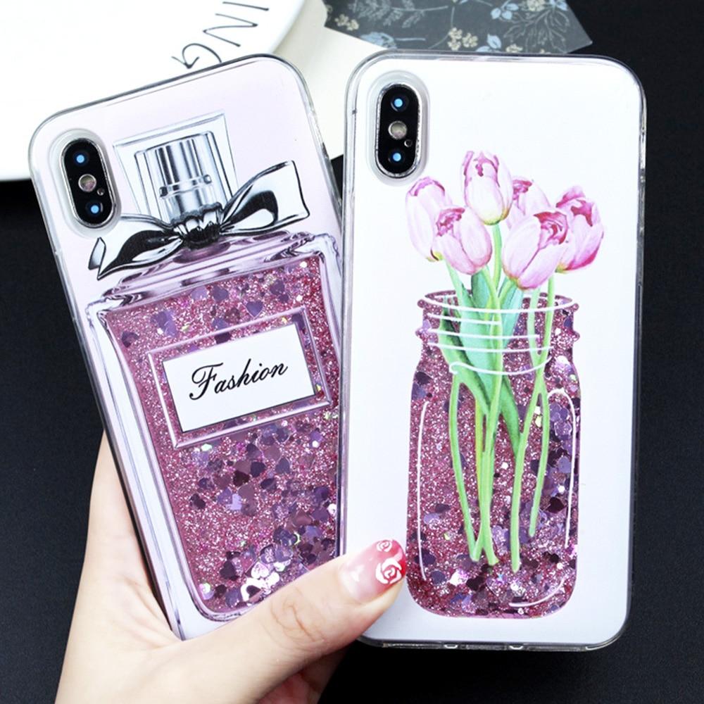 Dynamic Liquid Glitter Case for fundas iPhone 5s SE 6 Plus Case