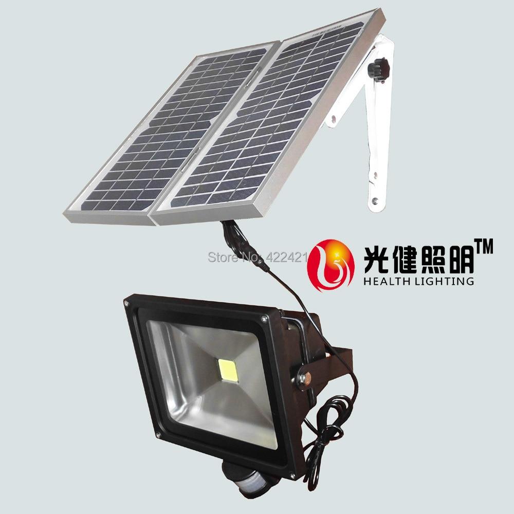 50W Solar pir sensor Light solar panel 14W led Motion Sensor Security Garden flood Light ip65 outdoor& indoor