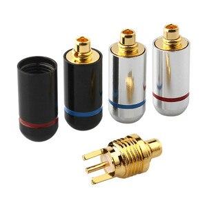 Штекерный разъем MMCX для наушников, позолоченный штекер, аудиокабель для наушников UE900 SE535 SE215 W10 W20 W30, гарнитура, адаптер AUX