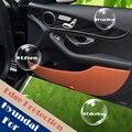 4 pçs/lote porta Pad proteção protetor de borda lateral couro artificial para Hyundai IX45 SantaFe grande 2013 2014 2015 Anti chute Mat