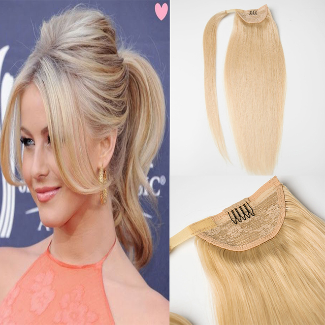 Hot Queen Real Hair Blond Ponytail Human Hair Ponytail Wrap Around
