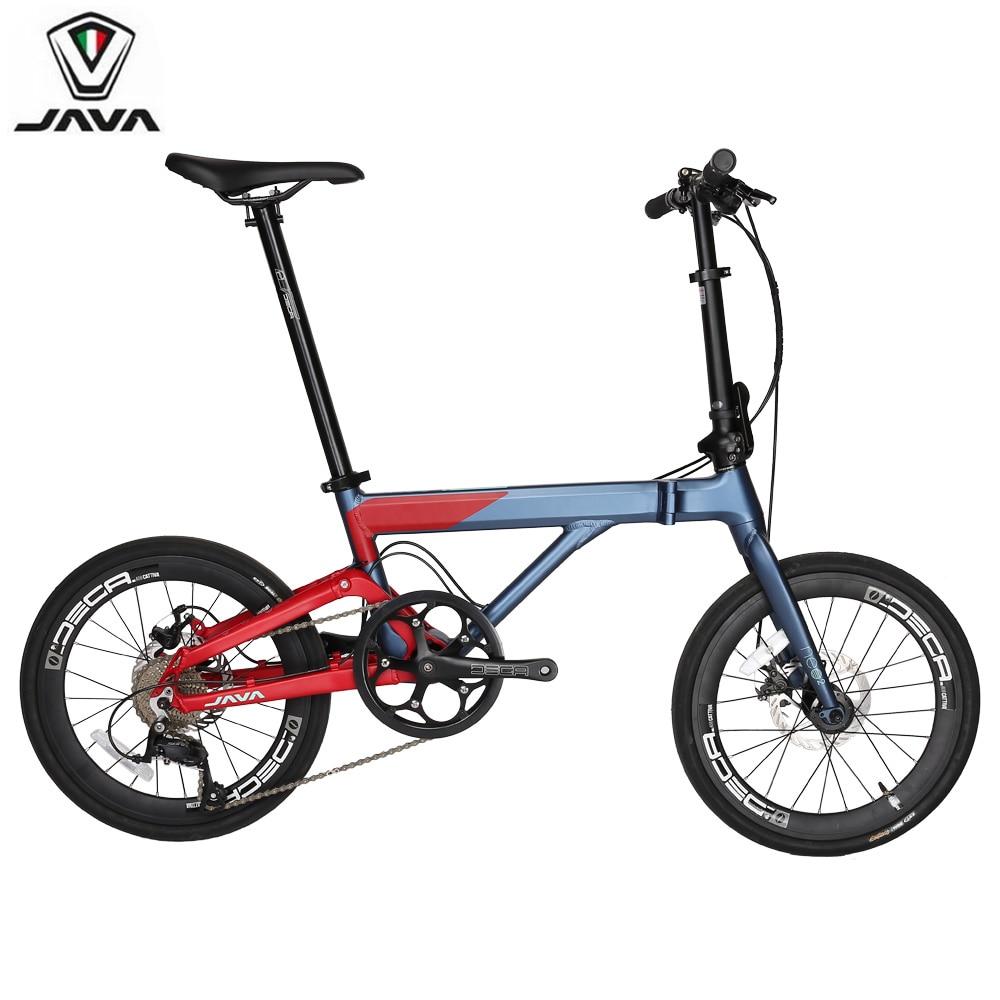 JAVA NEO Alloy Adult Folding Bike 20 406 Wheel 9 Speed Disc Brake Rolling Foldable Uniex