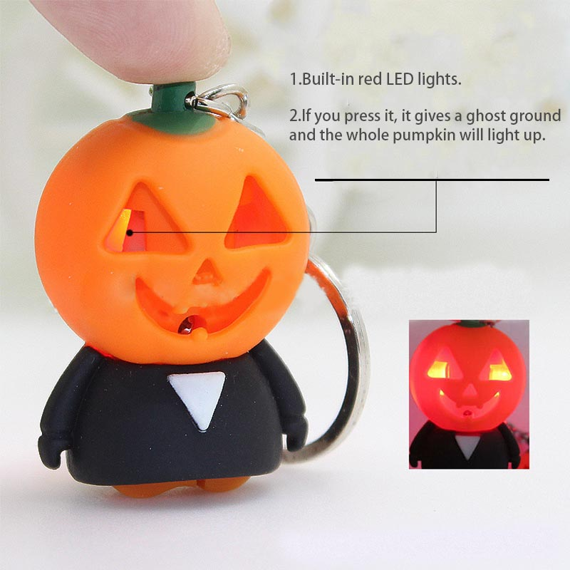 2019 Hot Sale Pumpkin Ghost Shape Tactical Alarm With LED Light Ghost Voice Sound Outdoor Traveling Defensa Personal Tools
