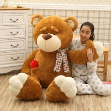 huge new plush scarf teddy bear toy big creative heart bear doll gift about 160cm