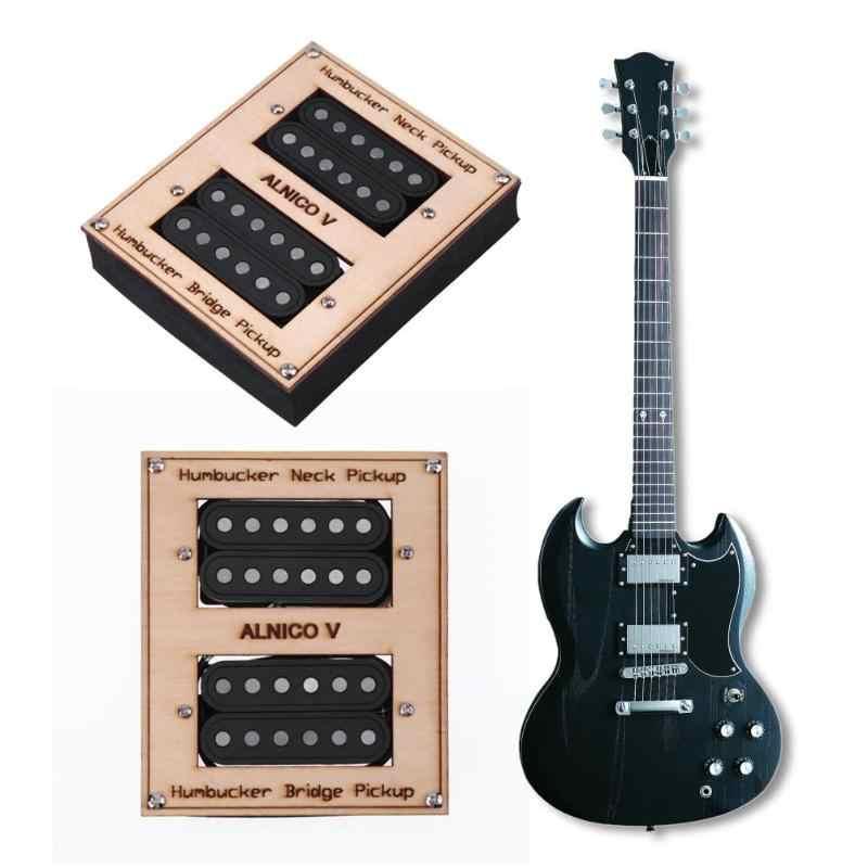und Hals Pickup Tonabnehmer Set für 7 Saiten 2Pcs Gitarren Double Coil Bridge
