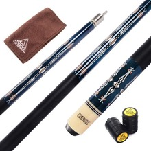 Cuesoul CSPC019 58 inch Canadian Maple Wood 1/2 Jointed Pool Cue Stick Billiard With Quick Release Joint, 13mm Tips